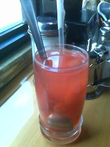 "A ""home-made"" fruit beverage"